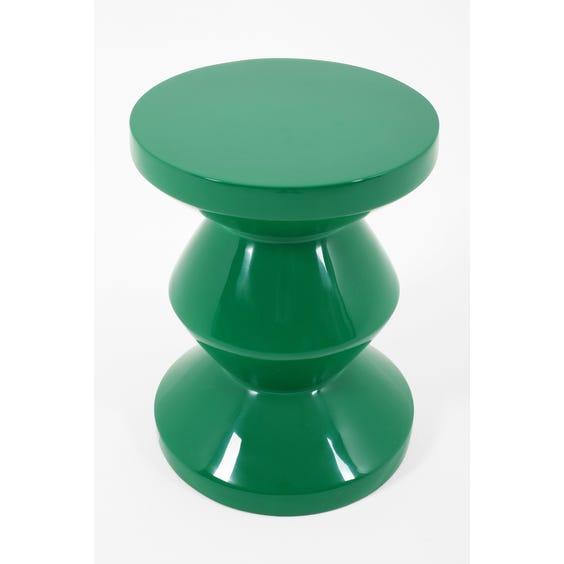 Emerald green totem stool image