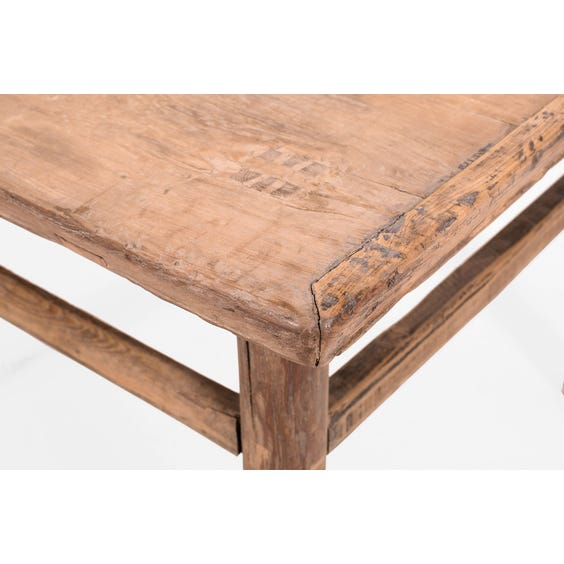 Rustic Chinese elm square table image