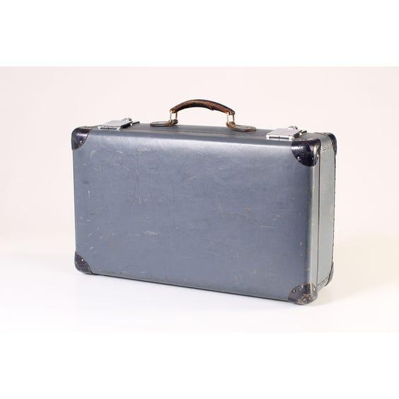 Blue vintage Globe-Trotter suitcase image