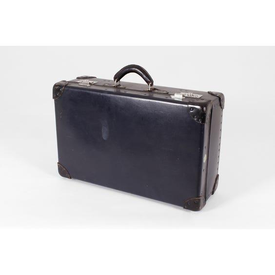 Navy blue vintage suitcase image