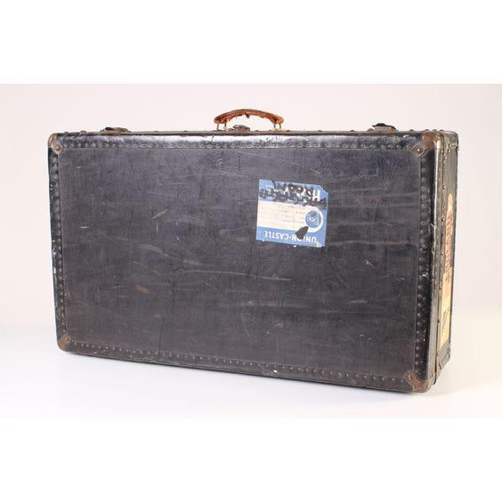Black vintage studded luggage suitcase image