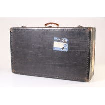 Black vintage studded luggage suitcase