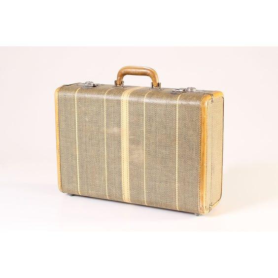 Vintage cane woven suitcase image