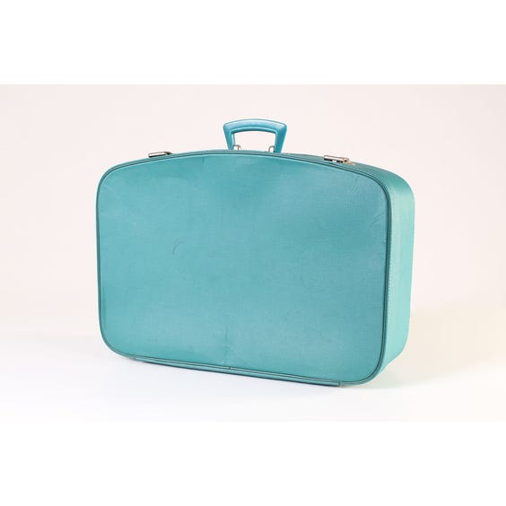 Jade green vintage suitcase image