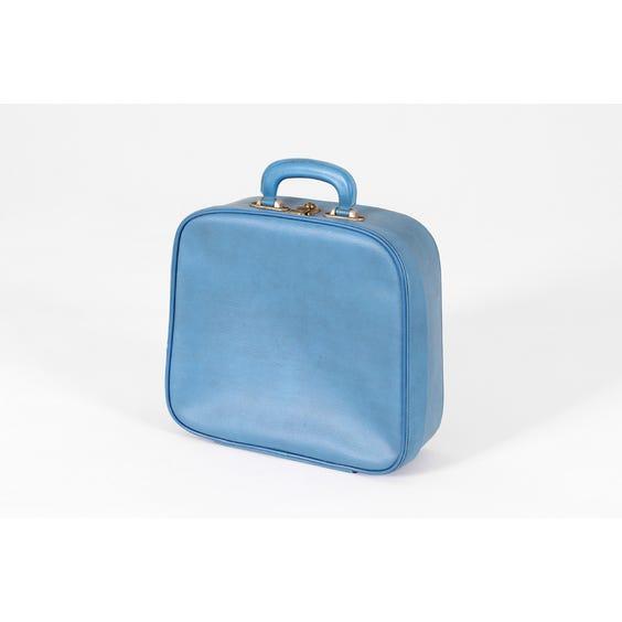 Small cornflower blue vanity suitcase image