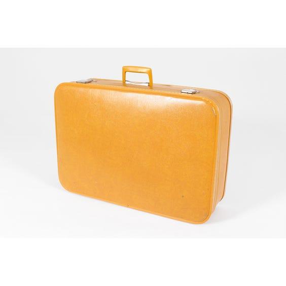 Medium vintage mustard vinyl suitcase image