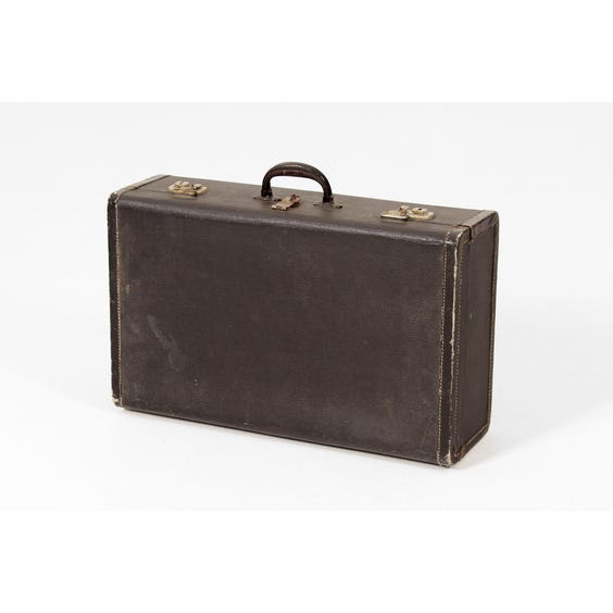 Vintage black suitcase image