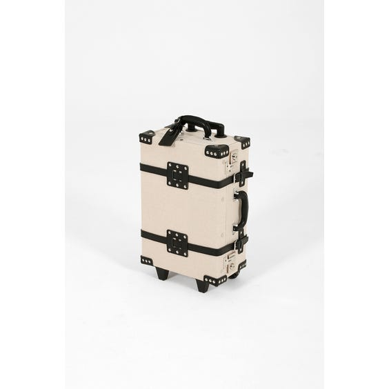Modern natural canvas suitcase image