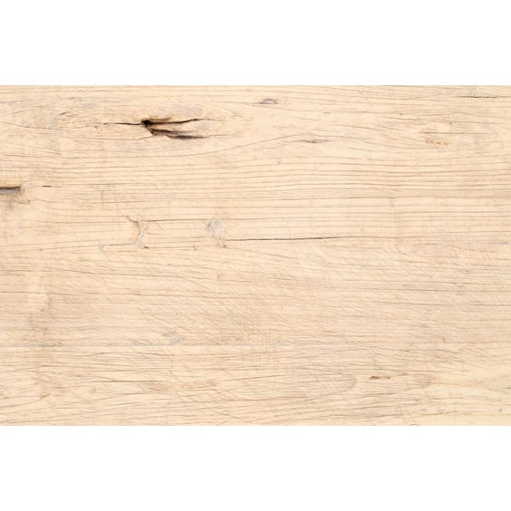 Rustic Chinese bleached elm table top image