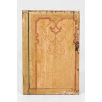 18th C ochre wooden panel