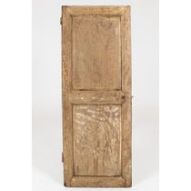 18th C stripped oak reversible door