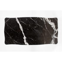 Black marble surface waved edge