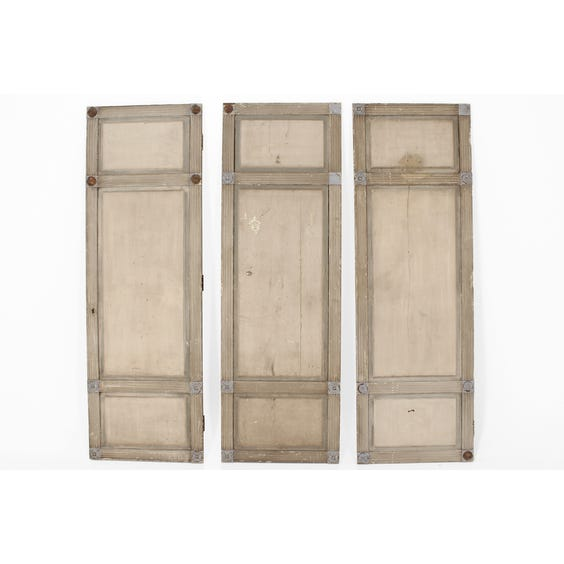 French grey painted door panel image