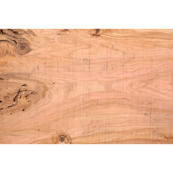 Grained olive wood plank surface image