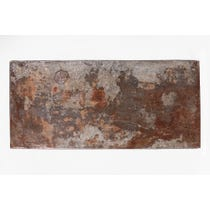Distressed metal rectangular surface