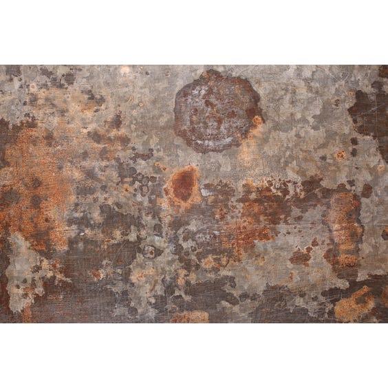 Distressed metal rectangular surface image