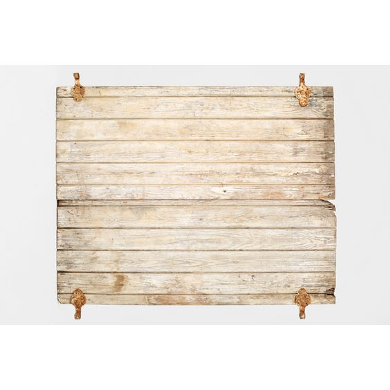 Antique wooden shutter surface image