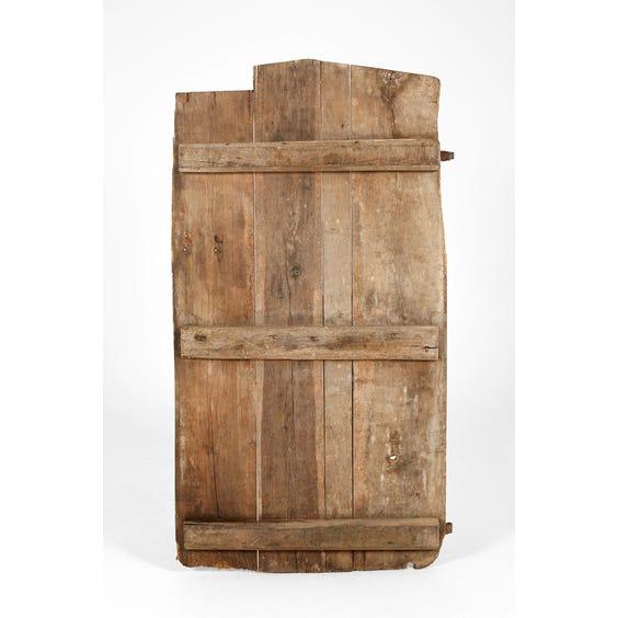 Antique wooden plank door image