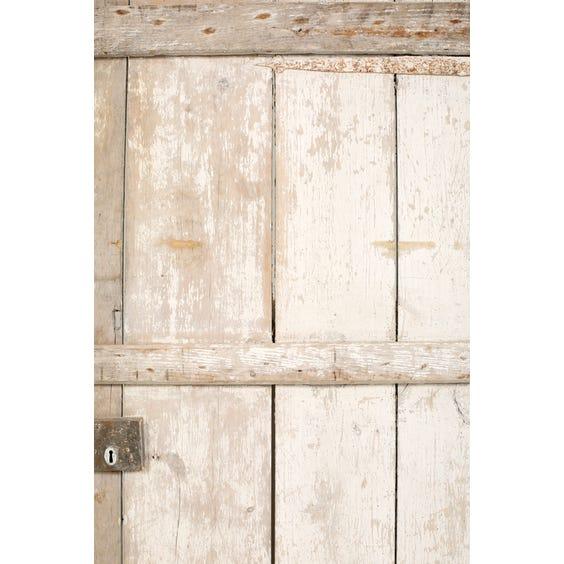Antique off white painted door image