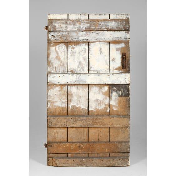 Antique distressed white door image