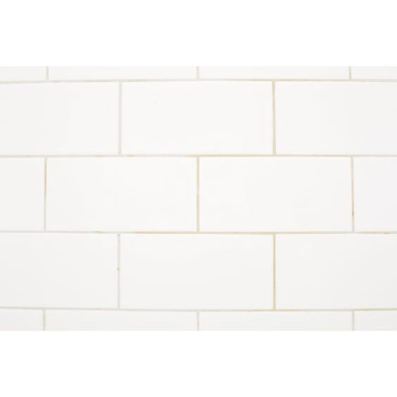 Rectangular white tiled surface image
