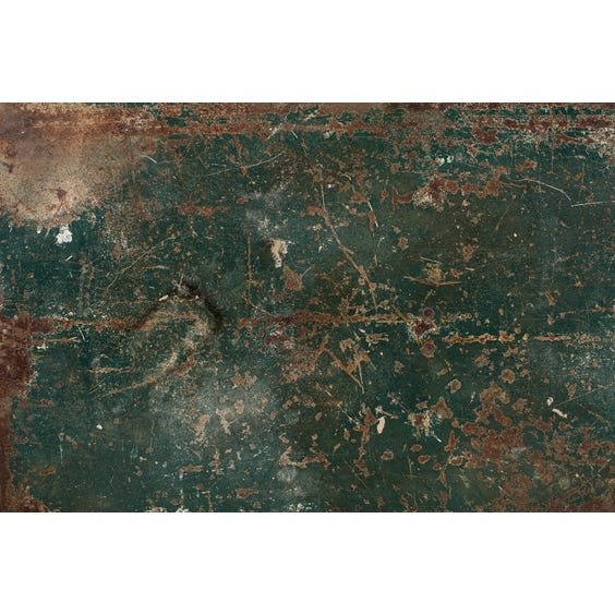 Distressed green and rusted surface image