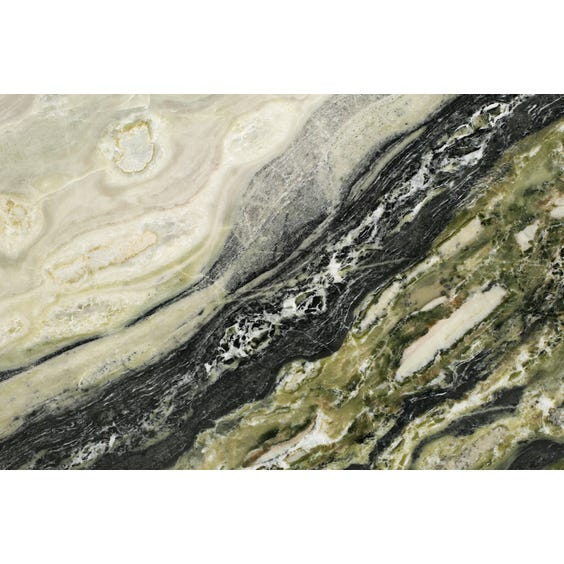Square green marble surface image