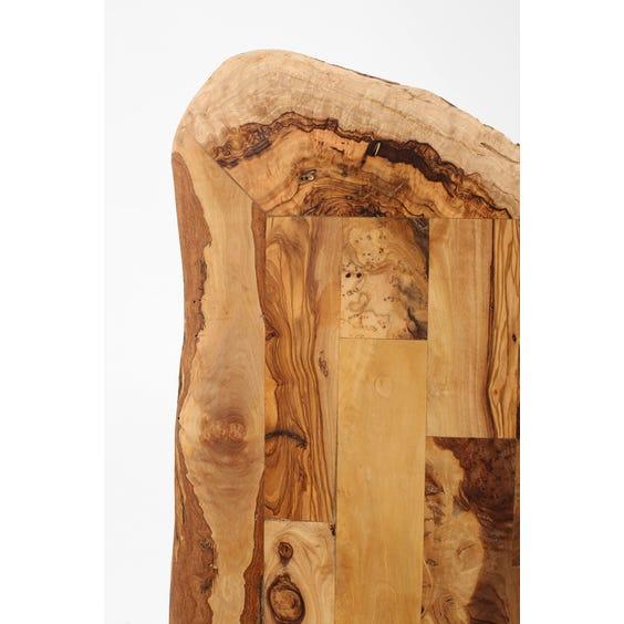 Rectangular olive wood surface  image
