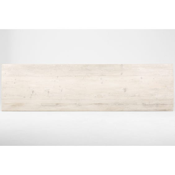 Rustic white washed table top image