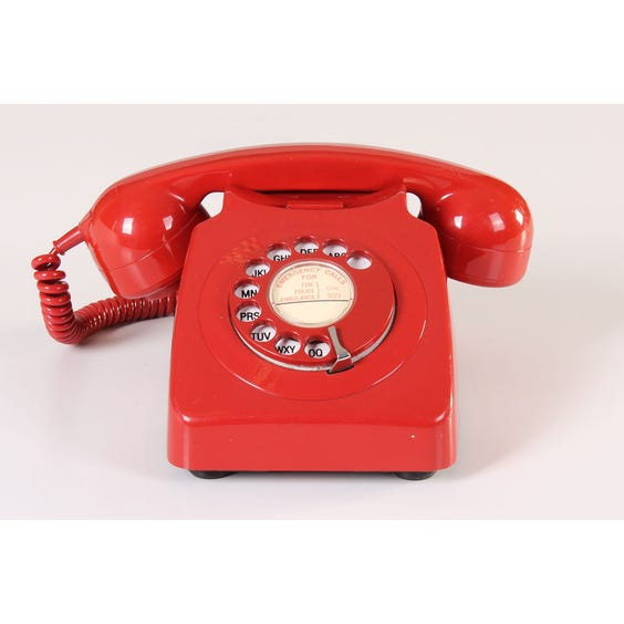 Red period telephone image