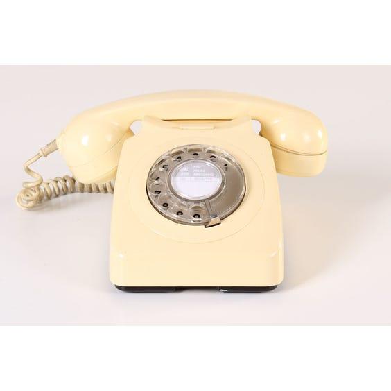 Cream period distressed telephone image
