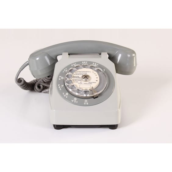 Grey period French telephone image