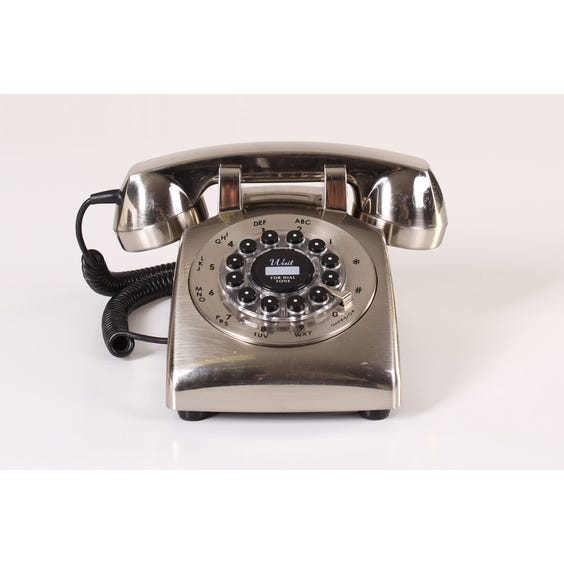 Brushed aluminium telephone image