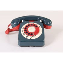 Retro dark green telephone