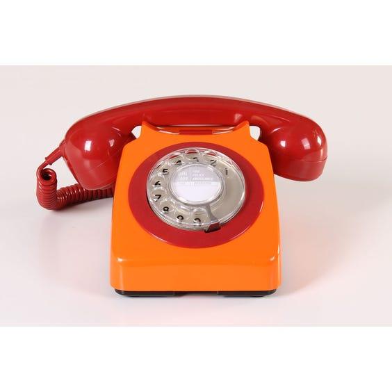 Retro orange telephone image