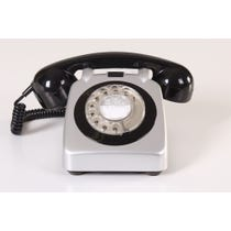 Retro silver telephone