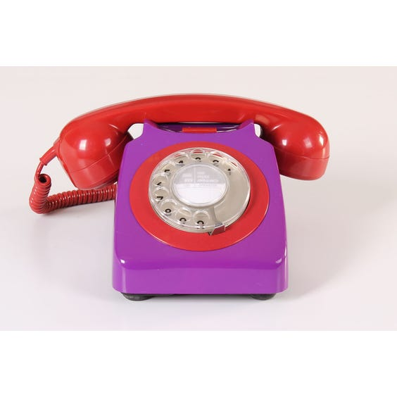 Retro purple telephone image