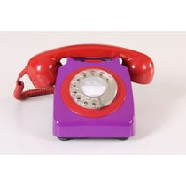 Retro purple telephone