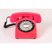 Flocked pink telephone
