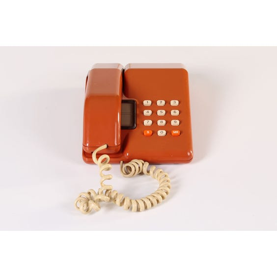 1980s orange telephone image