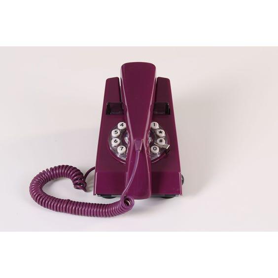 1970s purple telephone image