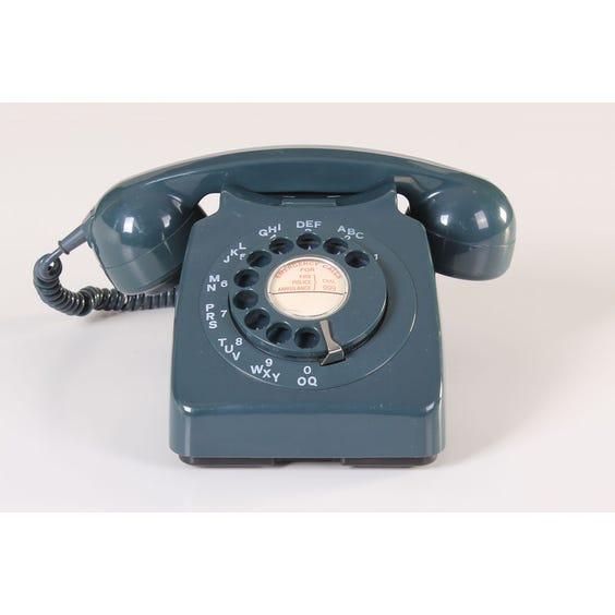 Petrol green vintage telephone image