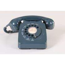 Petrol green vintage telephone