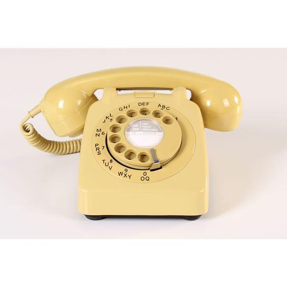 Mustard period telephone image