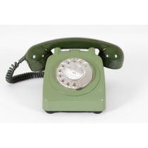 Two-tone moss green telephone
