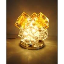 Murano gold glass cube lamp