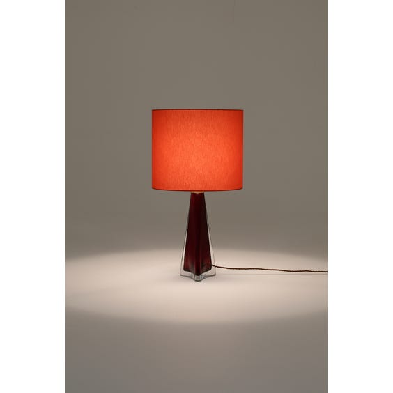 Red Murano glass table lamp image