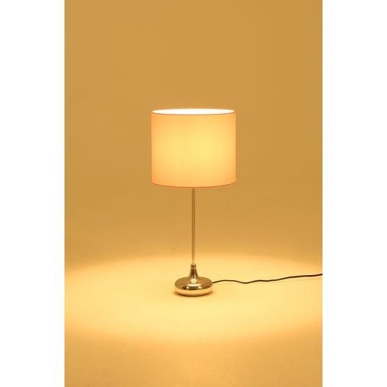 Chrome single stem table lamp image
