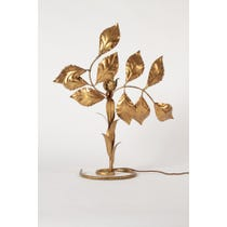 French ornate gold leaf lamp