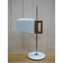 1960s Jo Colombo white metal lamp